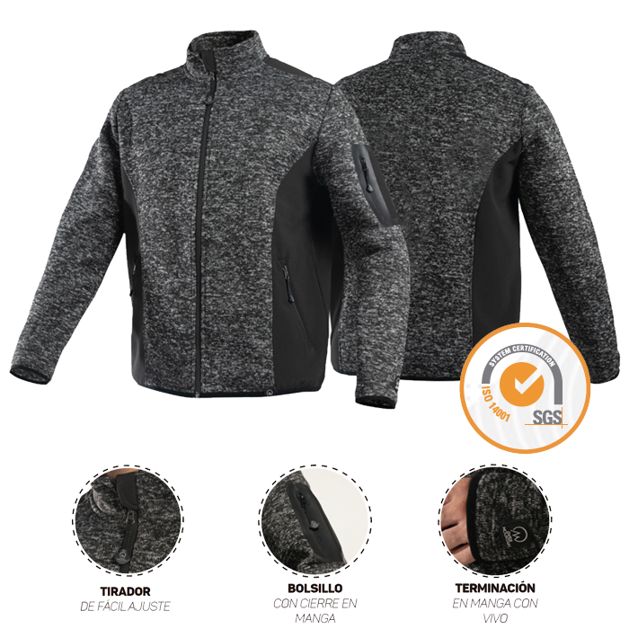 Outdoor OverMountain | Chaquetas | Chaqueta Knit Fleece Melange Hombre
